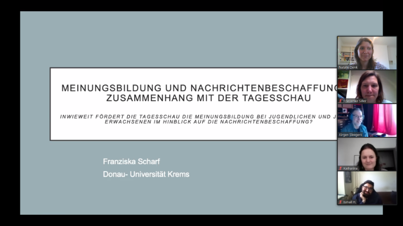 Screenshot Master-Thesis Defensio